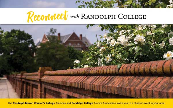 Reconnect with Randolph College - The Randolph-Macon Woman's College Alumnae and Randolph Co